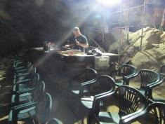 Matt setting up the sound desk